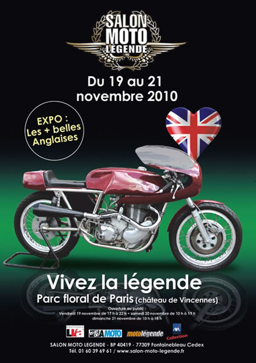 salon moto l gende 2010 place aux anglaises objectif moto. Black Bedroom Furniture Sets. Home Design Ideas