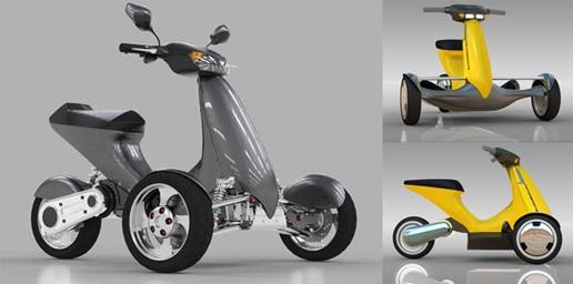 sway un tricycle lectrique passe partout et original objectif moto. Black Bedroom Furniture Sets. Home Design Ideas