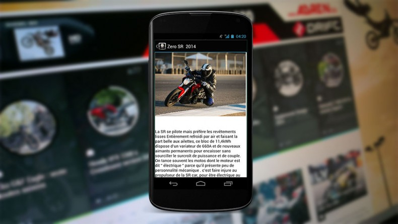 Objectif-moto Android