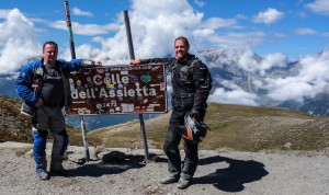 Piotr et Moi sur le sommet du col de l'Assiette (Italie)