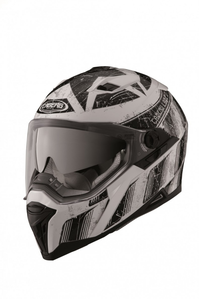 caberg Stunt Steeze white-black