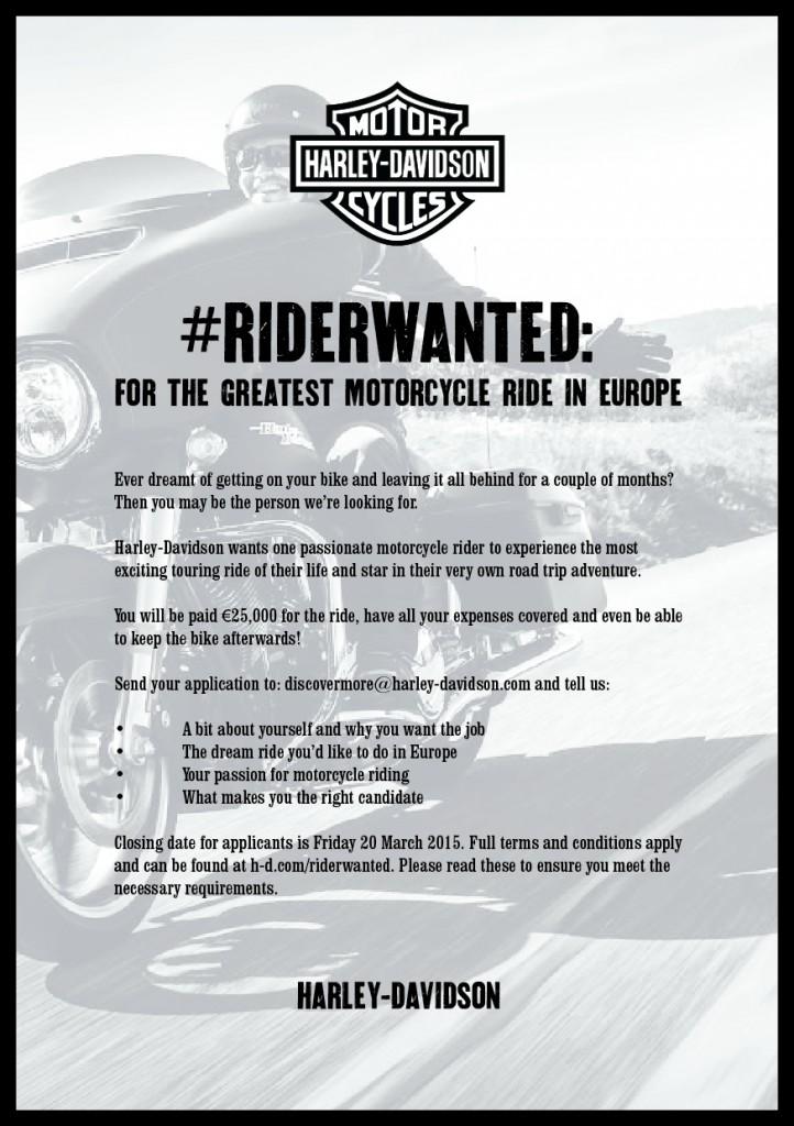 Discover More ou vous faire payer pour rouler deux mois avec Harley