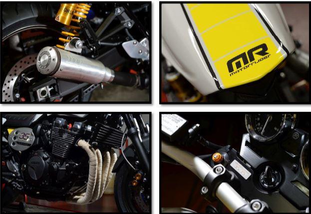 Une Yamaha XJR 1300 MR, édition spéciale 35 ans MR avec D'Ieteren Sport