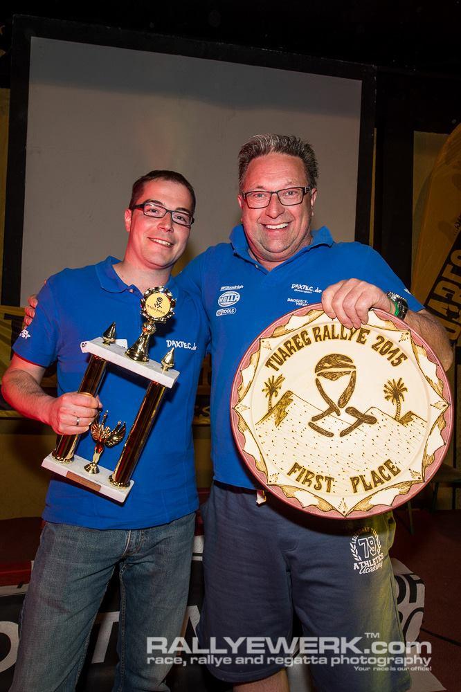Stephan, venu pour de l'assistance moto et finalement victorieux en auto amateur!