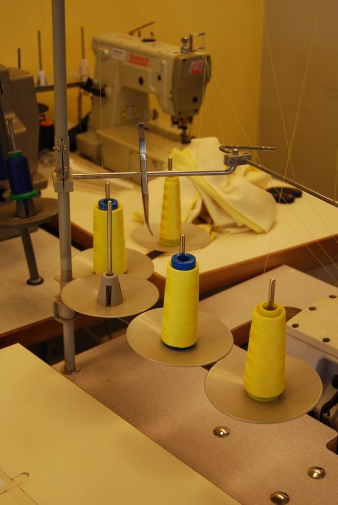 triple couture avec fil spécifique
