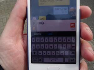 un simple SMS à envoyer