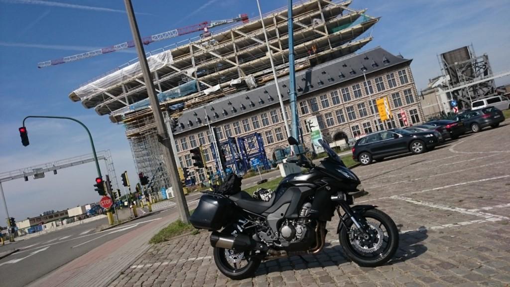 Architecture maritime dans le port d'Anvers.