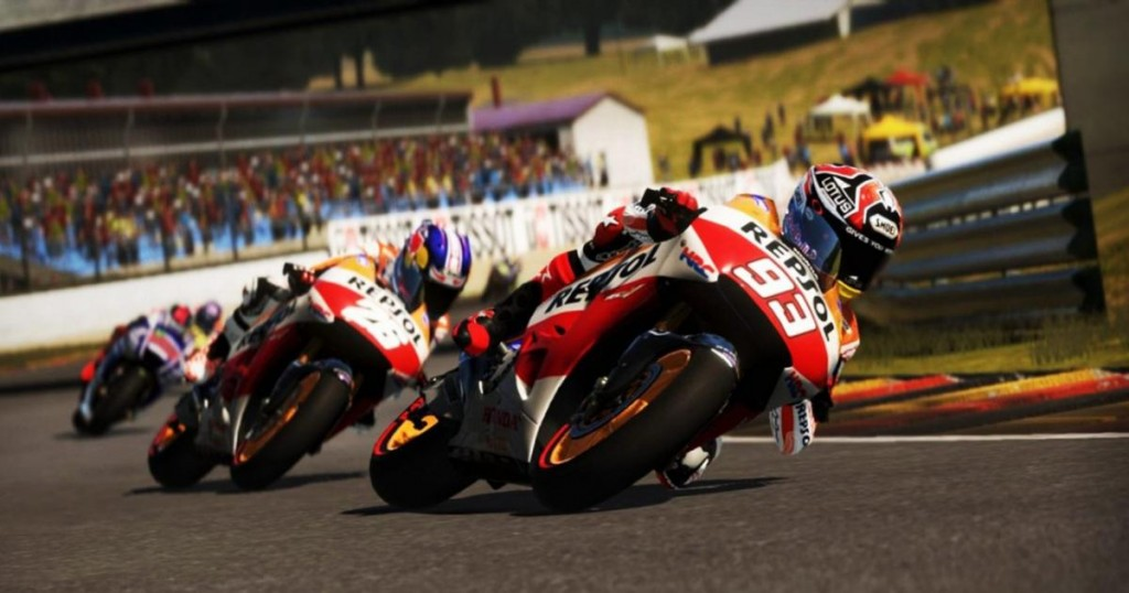 La qualité graphique de MotoGP 15 est en progrès.