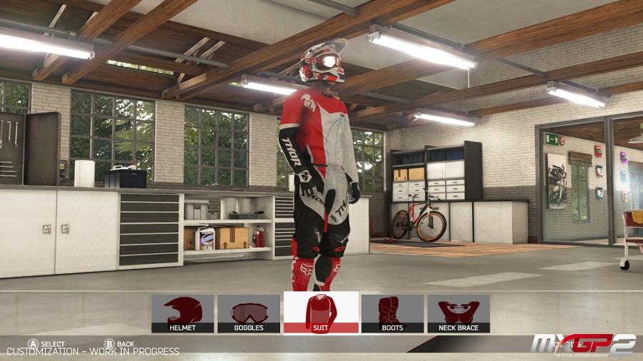 Les possibilités de personnalisation sont très étendues pour la moto comme pour son pilote.