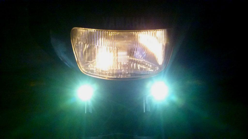 C'est cette photo qui offre le meilleur rendu de l'effet réel des LED stroboscopiques.