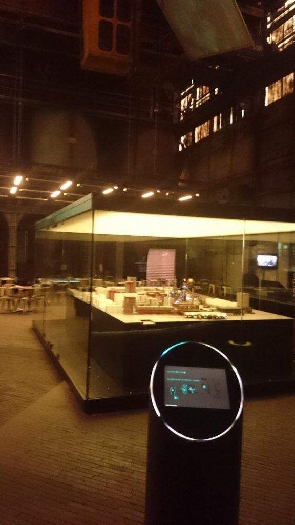 """""""Masse Noire"""" à Esch-Belval, l'expo avec sa maquette du site."""