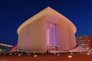 La Philarmonie, prestigieuse salle de concert à Luxembourg.