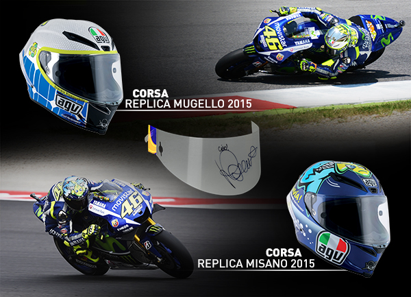 Les Casques Agv Replica 2015 De Valentino Rossi Avec Tear Off
