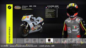 OJ dans sa livrée de champion du monde 250cc.