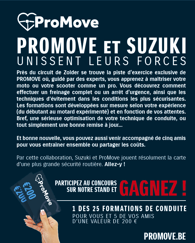 Des news de Suzuki et les conditions salon