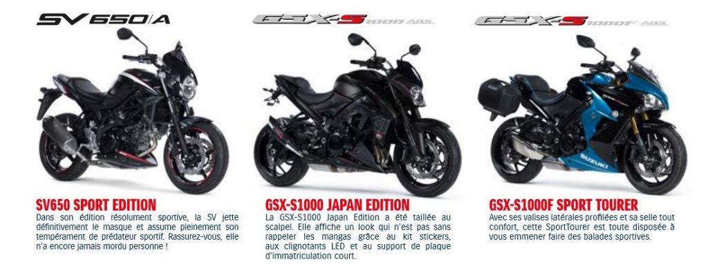Des news de Suzuki et les conditions salon