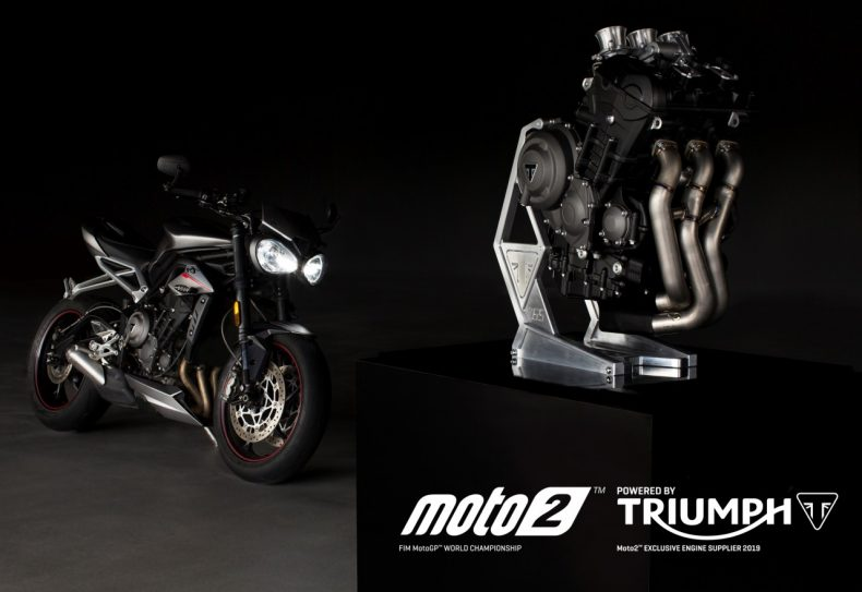 les moto 2 rouleront en 2019 avec un moteur triumph. Black Bedroom Furniture Sets. Home Design Ideas