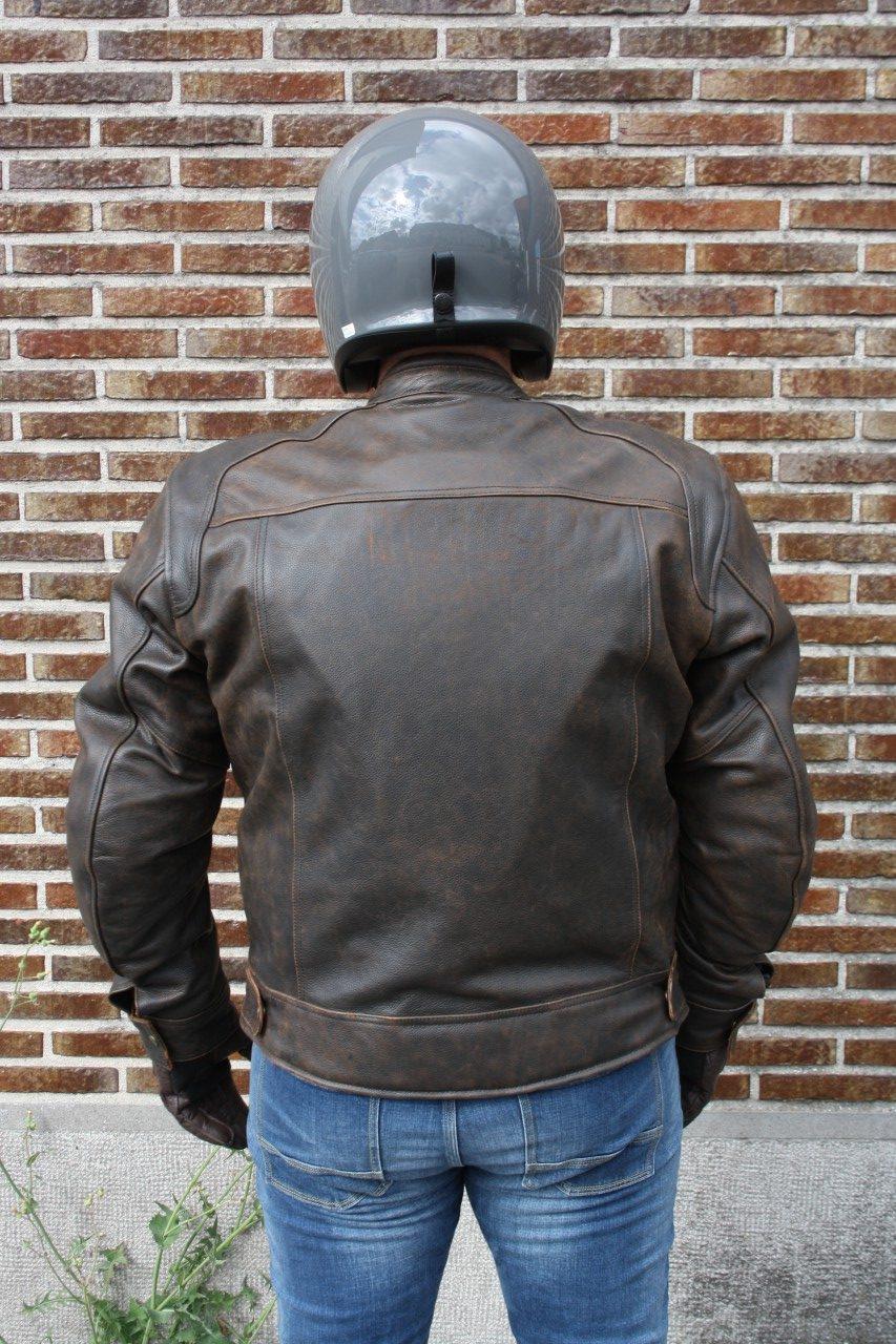 Blouson cuir Zolki Biker Vintage, chic et pas cher ...