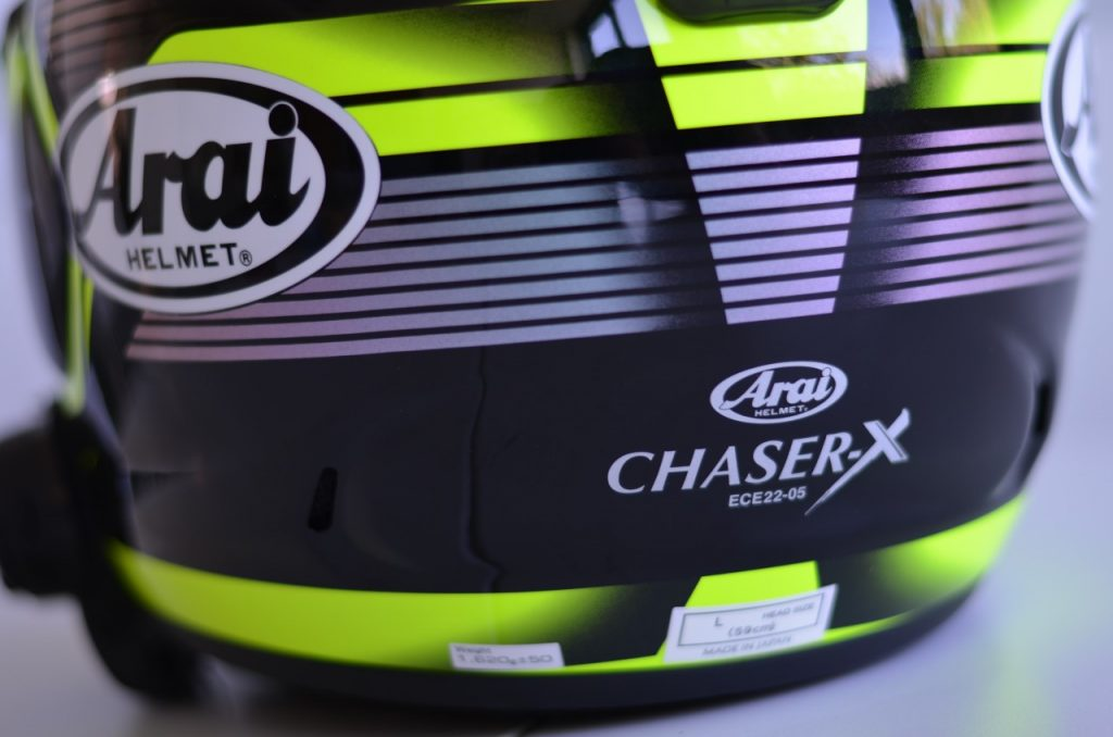 Arai Chaser-X racé mais moins sportif que le RX7V.