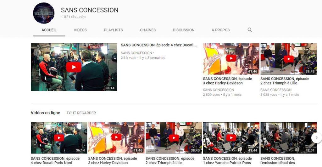 L'émission internet «Sans concession»