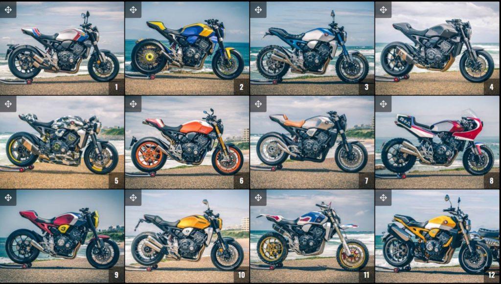Honda Customs, choisissez votre CB1000R préférée parmi les 12 proposées !