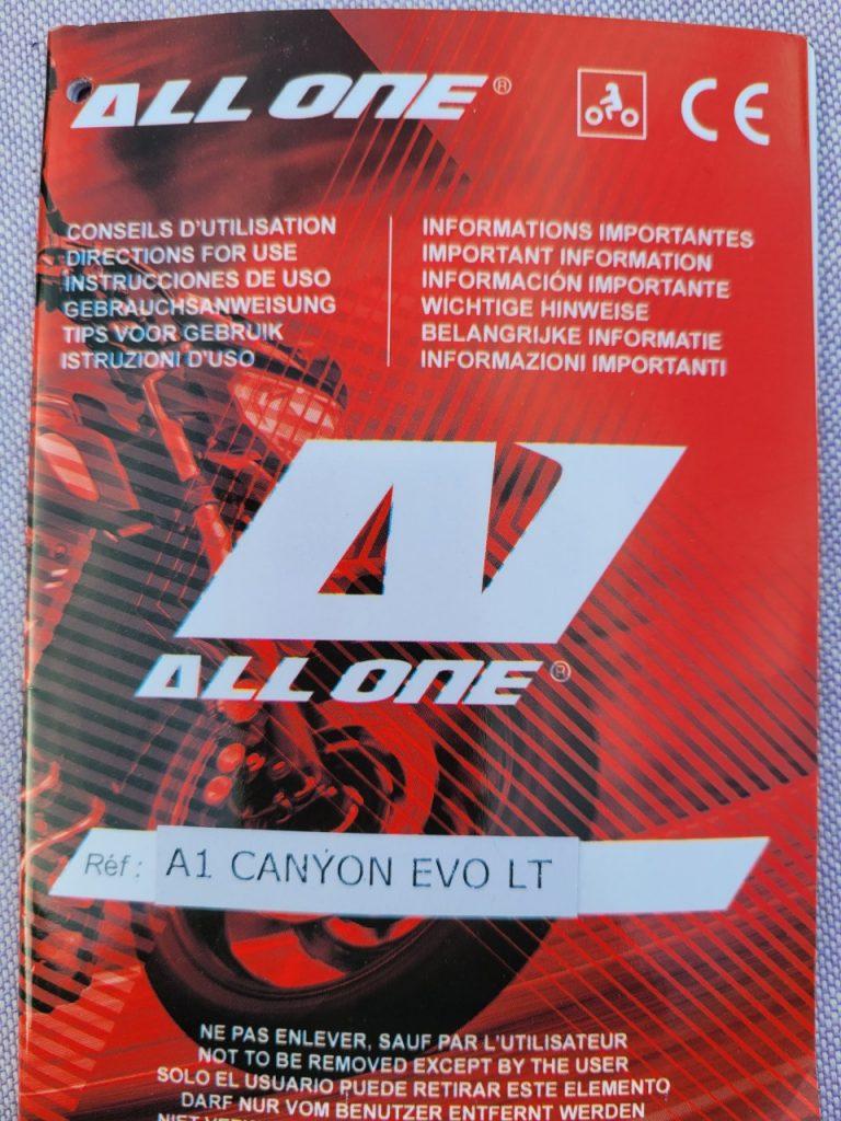 Veste All One Canyon EVO LT, elle fait le job!